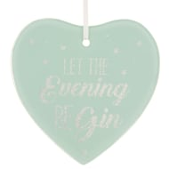 Glass Glitter Hanging Plaque - Let the Evening BeGIN
