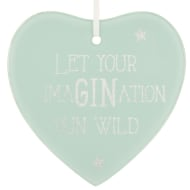 Glass Glitter Hanging Plaque - ImaGINation