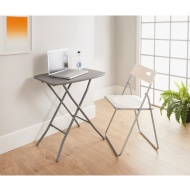 Mobel Adjustable Folding Table - Grey