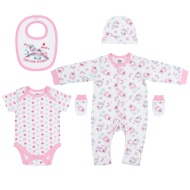 Baby Clothing Set 5pc - Unicorn Friends