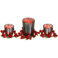 Essence Cranberry Scented Candles 3pk - Red