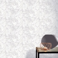 Arthouse Liquid Marble Wallpaper - White