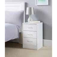 Lokken 3 Drawer Bedside Table