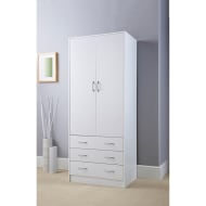 Lokken 3 Drawer Double Wardrobe