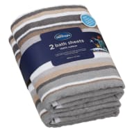Silentnight Coastal Bath Sheet 2pk - Natural