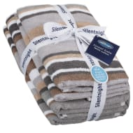 Silentnight Coastal Stripe Towel Bale 4pk - Natural