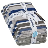 Silentnight Coastal Stripe Towel Bale 4pk - Denim
