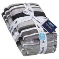 Silentnight Coastal Stripe Towel Bale 4pk - Grey
