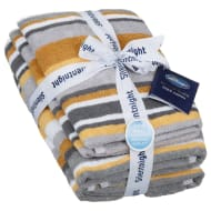 Silentnight Coastal Stripe Towel Bale 4pk - Mustard
