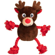 Christmas Rope Character Dog Toy - Reindeer