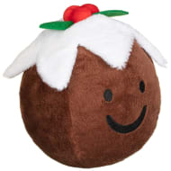 Novelty Cuisine Plush Dog Toy - Christmas Pudding