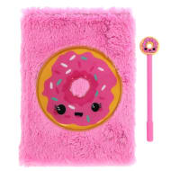 sweet stuff fluffy notebook pen pink