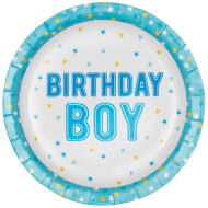 Kids Party Paper Plates 20pk - Birthday Boy