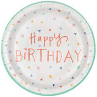 Kids Party Paper Plates 20pk - Happy Birthday