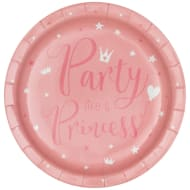 Kids Party Paper Plates 20pk - Princess