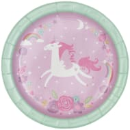 Kids Party Paper Plates 20pk - Unicorn