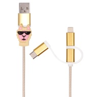 Byte 3-in-1 Charging Cable - Llama