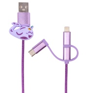 Byte 3-in-1 Charging Cable - Narwhal