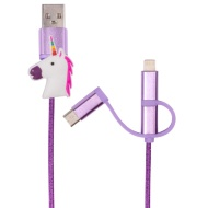 Byte 3-in-1 Charging Cable - Unicorn
