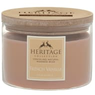 Heritage Wooden Wick Candle - French Vanilla