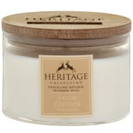 Heritage Wooden Wick Candle - Fresh Cotton