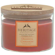 Heritage Wooden Wick Candle - Orange & Cinnamon
