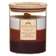Heritage Layered Candle - Fresh Cotton, Amber, Oud Wood