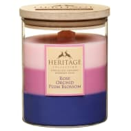 Heritage Layered Candle - Rose, Orchid, Plum Blossom