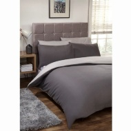 Silentnight Reversible Double Duvet Set - Charcoal