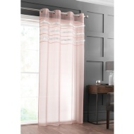 "Diamante Top Border Voile 55 x 90"" - Blush"