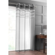 "Diamante Top Border Voile 55 x 90"" - Charcoal"