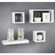 Lokken Set of 4 Shelves - White