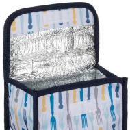 Insulated Lunch Box Food Bag - Forks