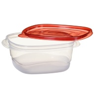 Plastic Square Food Containers 4pk - Red