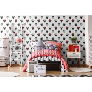 Minnie Sparkle Wallpaper - Black & Red