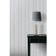 Crushed Stripe Wallpaper - Dove Grey