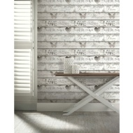 Shabby Chic Wood Wallpaper - Neutral