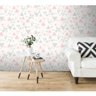 Chantilly Wallpaper - Pink & Grey