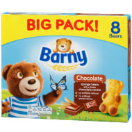 Barny Chocolate Sponge Bears 8pk
