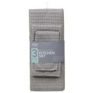 Microfibre Kitchen Set 3pk - Grey
