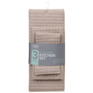 Microfibre Kitchen Set 3pk - Natural