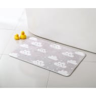 Character Bath Mat - Clouds