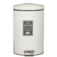 Powder Coated Vintage Pedal Bin 12L - Cream