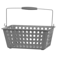 Large Shopping Storage Basket - Grey