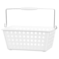 Large Shopping Storage Basket - White