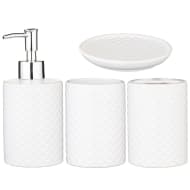 Scale Effect Bathroom Set 4pc - White
