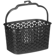 Multi-Purpose Hanging Storage Basket - Black
