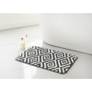 Geo Bath Mat - Grey