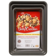 Betty Crocker Non-Stick Roaster Pans 3pk