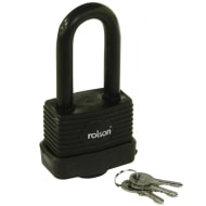 Rolson Long Shackle Weather Resistant Padlock